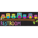 Ashley Productions ASH10668 Laminated Owls Restroom Pass
