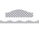 Ashley Productions ASH11405 Magnetic Border Gray & White Dots
