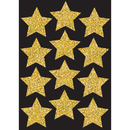 Ashley Productions ASH30400 Die Cut Magnets 3In Gold Sparkle - Stars