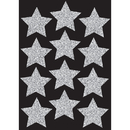Ashley Productions ASH30401 Die Cut Magnets 3In Silver Sparkle - Stars