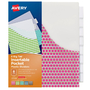 Avery Products AVE07709 Avery Big Tab 8 Tab Pocket - Insertable Plastic Dividers Set