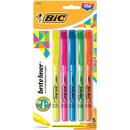 Bic USA BICBLP51ASST Bic Bright Liner Highlighters 5Pk Assorted