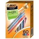 Bic USA BICGSM609AST Round Stic Xtra Life Pensbox Of 60