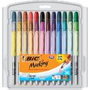 Bic Usa BICGXPMP361 Bic Mark It Permanent Markers 36Pk - Fine Point Asstd Color