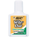 Bic USA BICWOFEC12 Bic Wite Out Correction Fluid Extra Coverage
