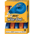 Bic USA BICWOTAP10 Bic Wite Out Ez Correct Correction Tape 10Pk