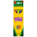 Crayola BIN4008 Colored Pencils 8 Ct Asst