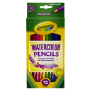Crayola BIN4302 Watercolor Pencils 12Ct Full Length