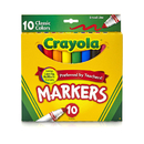 Crayola BIN587722 Crayola Taklon Watercolor 10Ct - Brush Classic Broad Line Markers