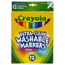Crayola BIN587813 Crayola Washable Markers 12Ct Asst - Colors Fine Tip