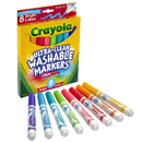 Crayola BIN587819 Crayola Washable 8Ct Bright Colors - Conical Tip