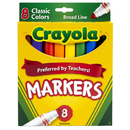 Crayola BIN7708 Original Coloring Markers 8 Color
