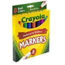 Crayola BIN7732 Coloring Marker Bold Conical 8Pk