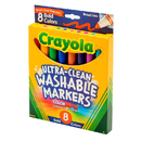 Crayola BIN7832 Washable Markers 8 Pk Bold Colors Conical Tip