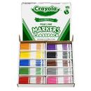 Crayola BIN8210 Classpack Markers 200 Ct Non Washable Fine Tip