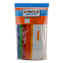 Bags Of Bags BOBZFH14M12 Zipafile Storage Bags Pack Of 12