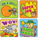 Carson Dellosa CD-0613 Stickers Fall Fun 120/Pk Acid & Lignin Free