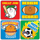 Carson Dellosa CD-0636 Stickers Sports 120/Pk Acid & Lignin Free