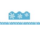 Carson Dellosa CD-108224 Snowflakes Scalloped Border