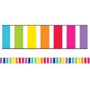 Carson Dellosa CD-108343 Stars Vert Rainbow Stripes Str Brdr