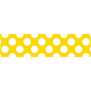 Carson Dellosa CD-108349 Yellow W Polka Dot Straight Borders