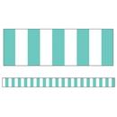 Carson Dellosa CD-108356 Turquoise Stripe Straight Borders Simply Stylish