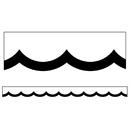Carson Dellosa CD-108357 Black & White Wavy Scalloped Border Simply Stylish