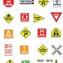 Carson Dellosa CD-110065 Bb Set Reading Road Signs