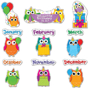 Carson Dellosa CD-110227 Colorful Owls Birthday Bb Set