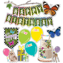 Carson Dellosa CD-110430 Birthday Mini Bulletin Board Set