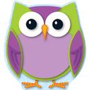Carson Dellosa CD-120133 Colorful Owl Mini Cut Outs