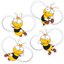 Carson Dellosa CD-120168 Buzz-Worthy Bees Colorful Cut Outs