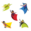 Carson Dellosa CD-120185 Super Power Super Kids Cut Outs