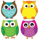 Carson Dellosa CD-120195 Colorful Owls Cut Outs