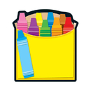 Carson Dellosa CD-151037 Crayon Box Notepad