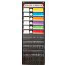 Carson Dellosa CD-158041 Scheduling Pocket Chart Gold Polka