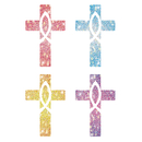 Carson Dellosa CD-2150 Dazzle Stickers Crosses 120/Pk Acid & Lignin Free