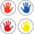 Carson Dellosa CD-2167 Chart Seals Handprints 810/Pk Acid & Lignin Free