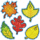 Carson Dellosa CD-2906 Dazzle Stickers Fall Leaves 75-Pk Acid & Lignin Free