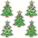 Carson Dellosa CD-2938 Dazzle Stickers Christmas Trees 75 Acid & Lignin Free