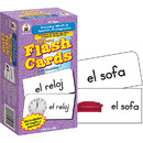 Carson Dellosa CD-3924 Flash Cards Everyday Words In Spanish Photographic