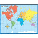 Carson Dellosa CD-6302 Chartlet Map Of The World 17 X 22