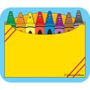 Carson Dellosa CD-9412 Name Tags Crayon Box 40/Pk Self-Adhesive