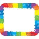 Carson Dellosa CD-9476 Name Tags Rainbow Kid-Drawn 40/Pk Self-Adhesive
