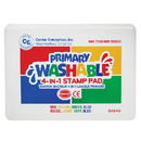 Center Enterprises CE-SA540 Stamp Pad Primary Washable Red - Blue Yellow Green
