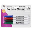 Charles Leonard CHL47804 Dry Erase Markers 4 Clr Set Bullet - Tip