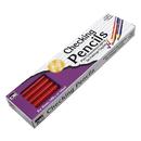 Charles Leonard CHL65045 Checking Pencils 12/Pk Red & Blue