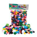 Charles Leonard CHL69330 Pom Poms Asst Sizes & Colors 300Ct