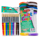 Charles Leonard CHL73000 Stubby Brushes And Paint Cup 10/St