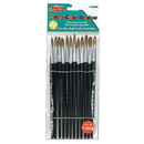 Charles Leonard CHL73508BN Paint Brushes Pointed, 6 PK